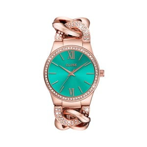Zegarek damski Brillante Rose Gold/Mint, 38 mm