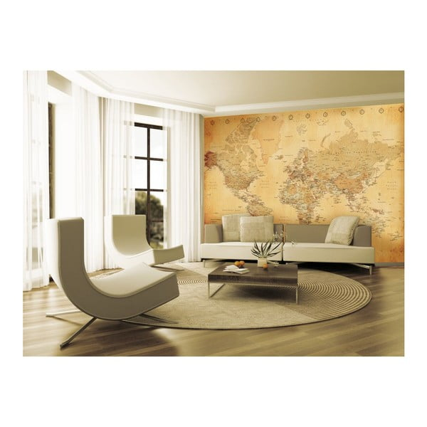 Tapeta Old Map Murals, 315x232 cm