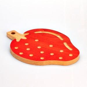 Bukowa deska do krojenia Strawberry, 23x32 cm
