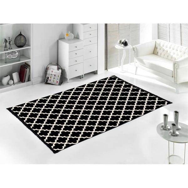 Czarny dywan Cihan Bilisim Tekstil Madalyon, 120x180 cm
