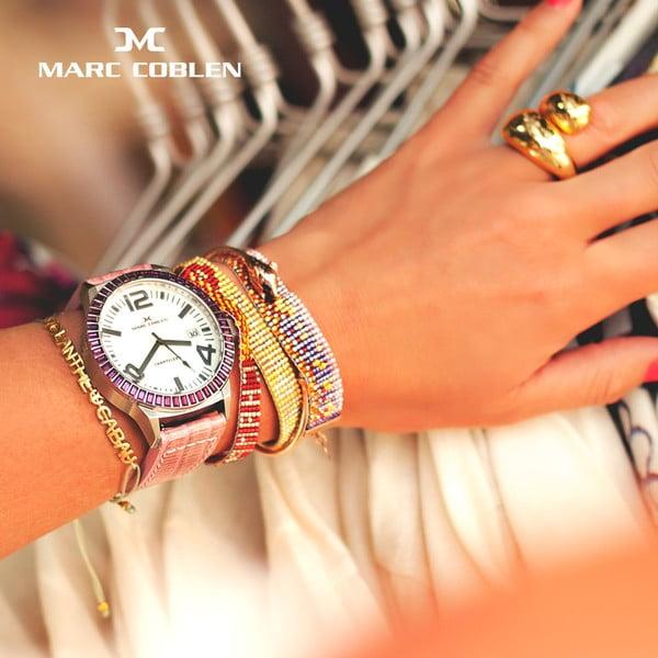 Zegarek damski Marc Coblen z dodatkowym paskiem i obręczą P102