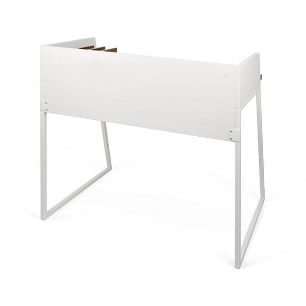 Białe biurko TemaHome Volga Walnut