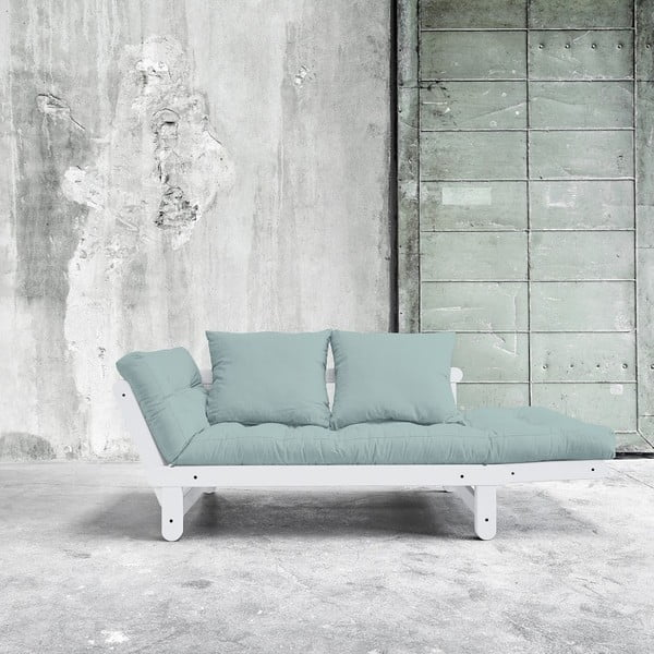 Sofa rozkładana Beat White/Sky Blue