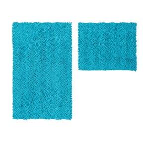 Zestaw 2 dywaników łazienkowych Surface Turquoise
