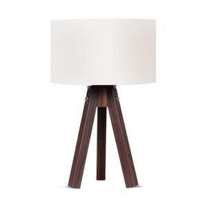 Lampa stołowa z białym abażurem Kate Louise Kahve