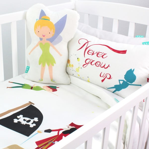 Pościel bawełniana dziecięca z poszewką na poduszkę Mr. Fox Peter, 100x120 cm