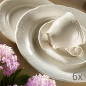 Komplet 6 porcelanowych filiżanek ze spodkiem Kutahyi Elegance, 80 ml