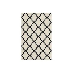 Wełniany dywan Ava 152x243 cm, biały/czarny