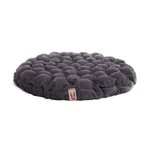 Szara poduszka do siedzenia wypełniona piłeczkami do masażu Linda Vrňáková Bloom, Ø 75 cm