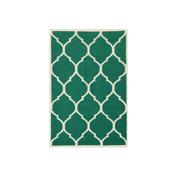 Dywan tkany ręcznie Green, 140x200 cm, zielony