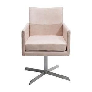 Kremowe krzesło Kare Design Dialog