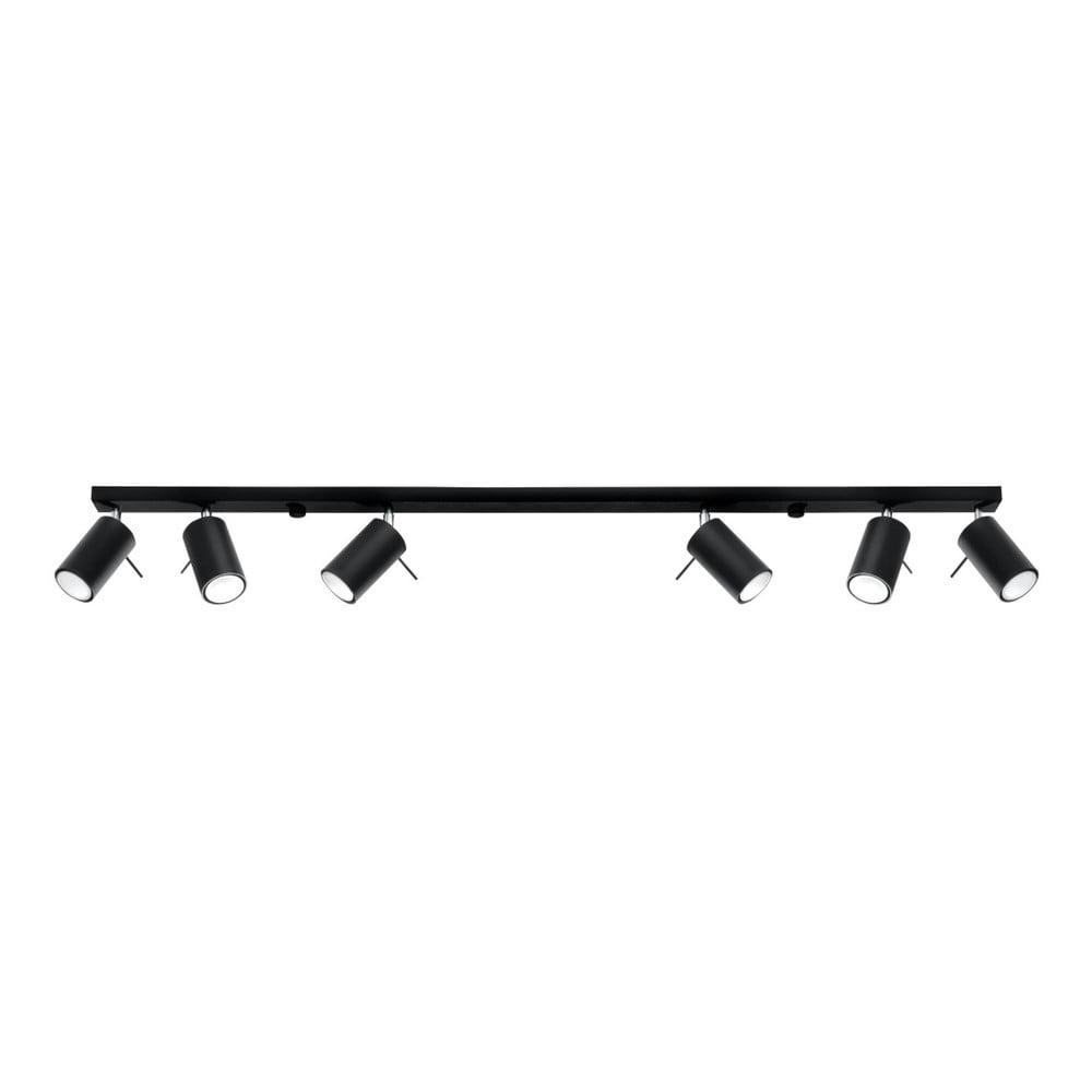 Czarna lampa sufitowa Nice Lamps Etna 6L