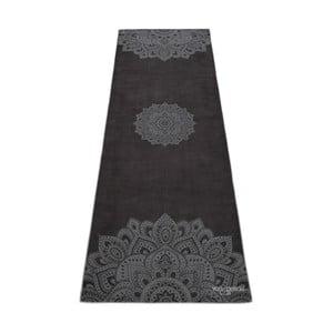 Czarny ręcznik na jogę Yoga Design Lab Hot Mandala, 340 g