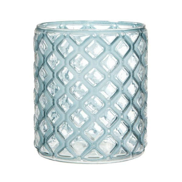 Lampion Cylinder Check Blue, 12 cm