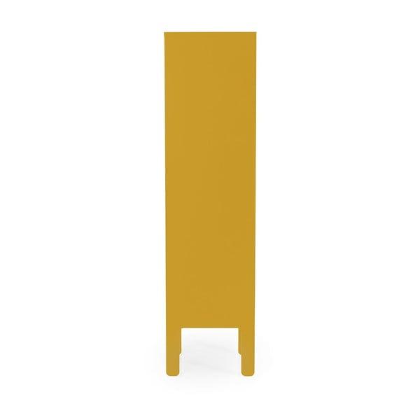 Żółta szafka Tenzo Uno, wys. 152 cm