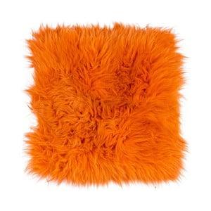 Pomarańczowa poduszka do siedzenia z długim włosiem Orange, 37x37cm