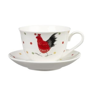 Filiżanka ze spodkiem Churchill China Alex Clark Rooster, 200 ml