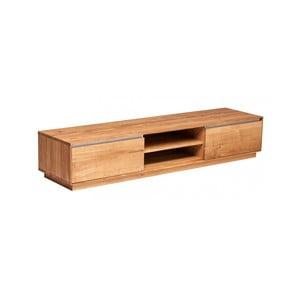 Stolik pod telewizor z dębowego drewna Fornestas Hamilton, szerokość 180cm