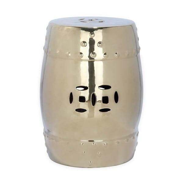 Stolik ceramiczny w kolorze złota odpowiedni na zewnątrz Safavieh Modern Ming