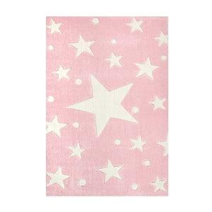 Różowy dywan dziecięcy Happy Rugs Star Constellation, 80x150 cm
