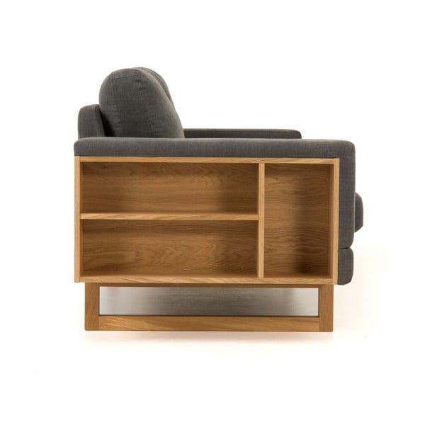 Szara sofa Woodman Libreria