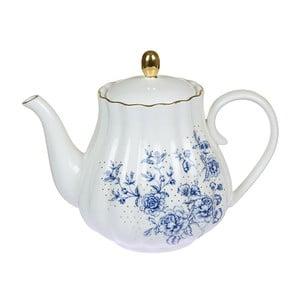 Niebiesko-biały dzbanek porcelanowy do herbaty Santiago Pons Bohem