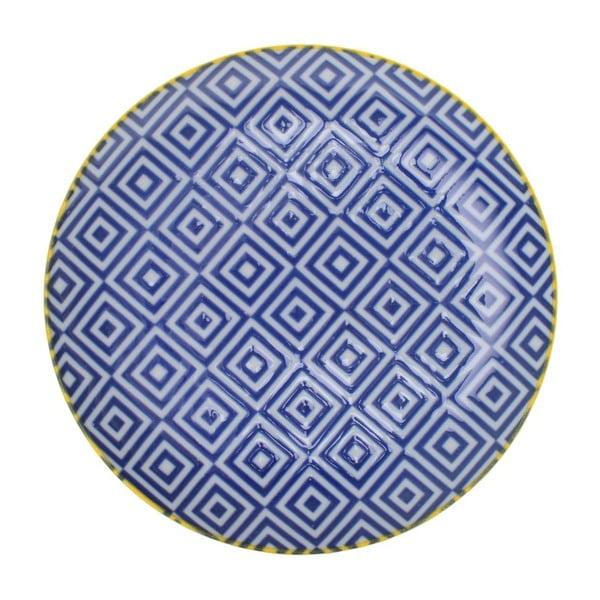 Porcelanowy talerz Geometric No1, 16x2,1 cm