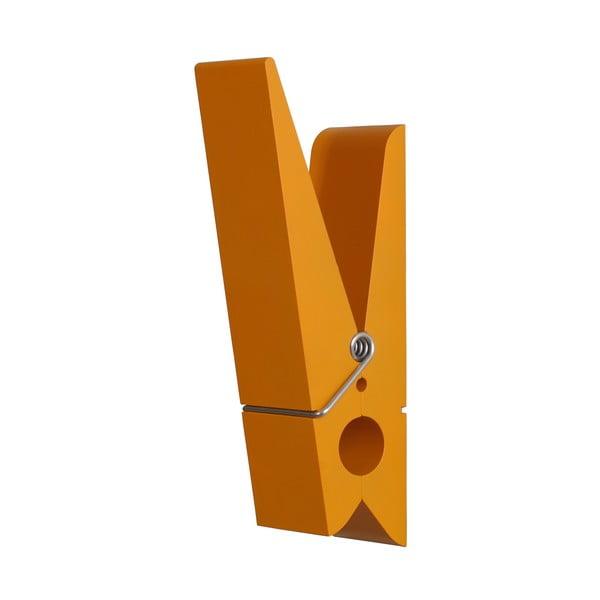 Pomarańczowy wieszak w kształcie klamerki SwabDesign
