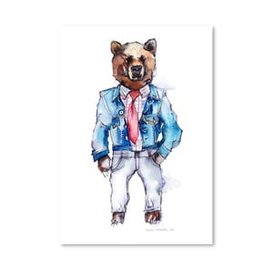 Plakat Mac the Bear, 30x42 cm