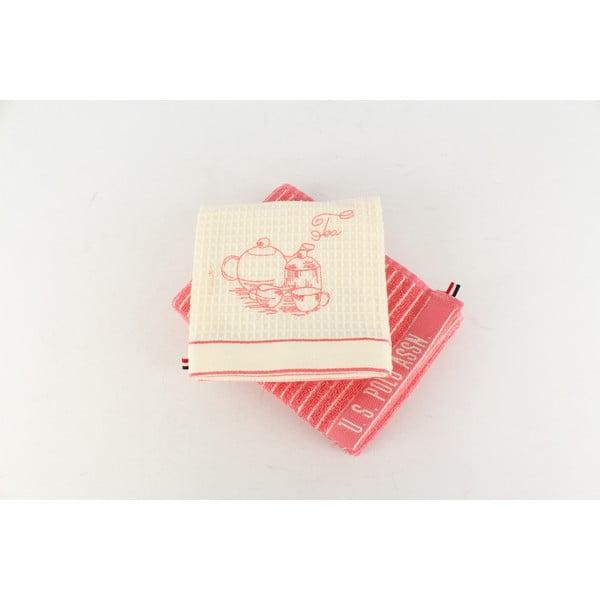 Komplet 2 ściereczek U.S. Polo Assn. Sturgis Pink, 50x70 cm