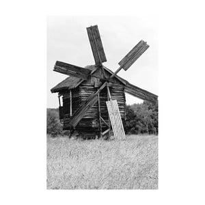 Obraz Black&White Windmill, 45x70 cm
