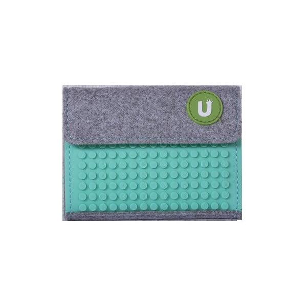 Pikselowy portfel, szary/zielony