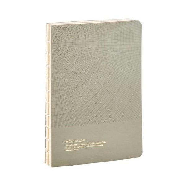 Szary notatnik Monograph Geometric