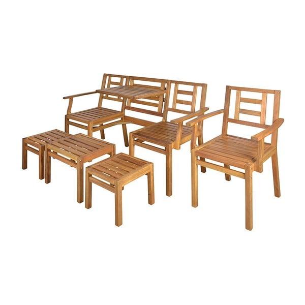 Zestaw drewnianych mebli Chat