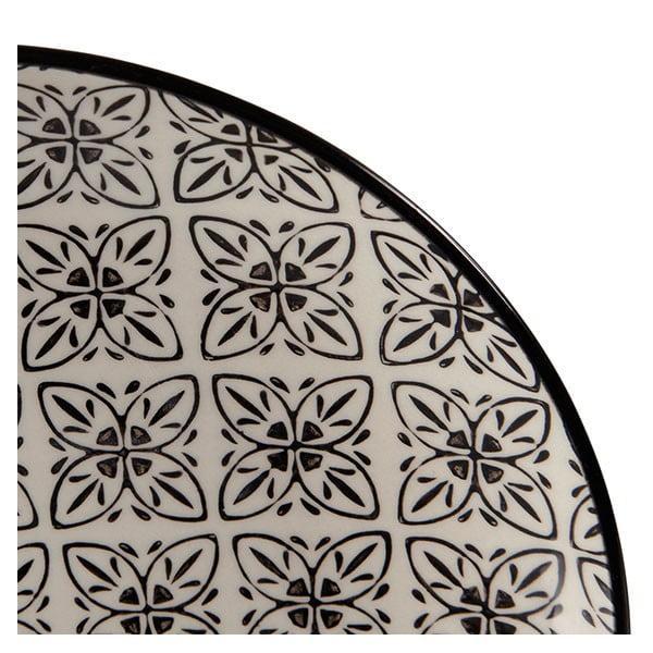 Zestaw 4 porcelanowych talerzy Zellige, 20.5 cm