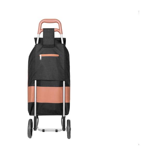 Czarna torba na zakupy na kółkach INFINITIF Chariot de Marché, 38 l