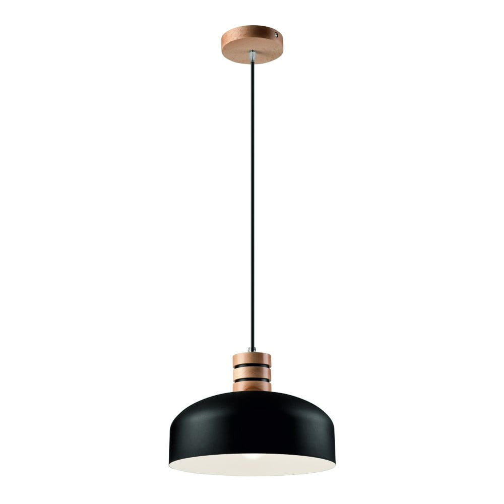Czarno-biała lampa wisząca Lamkur Barista