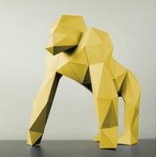 Papierowa rzeźba Goryl, żólta