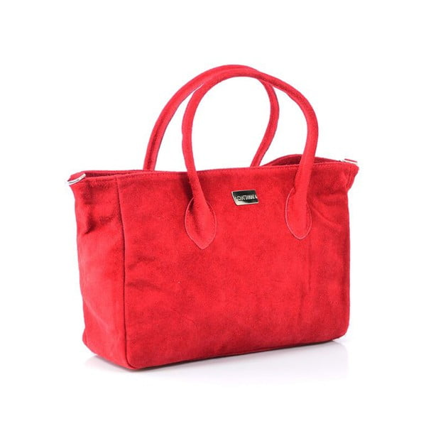 Skórzana torebka Carmina, czerwona