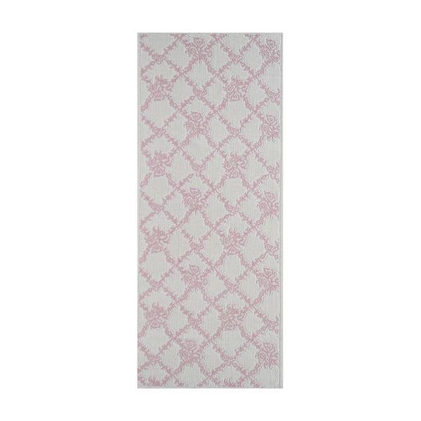 Wytrzymały dywan w kolorze pudrowym Scarlett, 80x200 cm