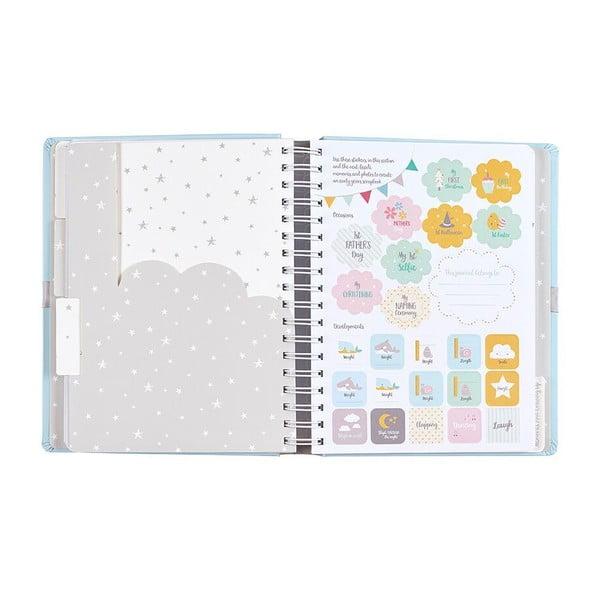 Niebieski pamiętnik małego dziecka Busy B Blue