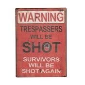 """Tabliczka """"Warning!"""""""