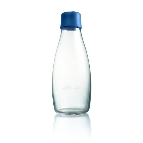 Ciemnoniebieska butelka ze szkła ReTap z dożywotnią gwarancją, 500 ml
