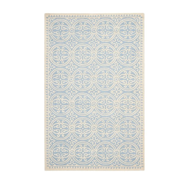 Dywan wełniany Marina Blue, 182x274 cm