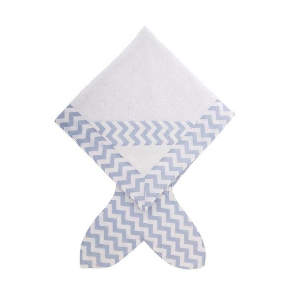 Dziecięcy ręcznik Baby Bites Fish Blue, 80x 80 cm