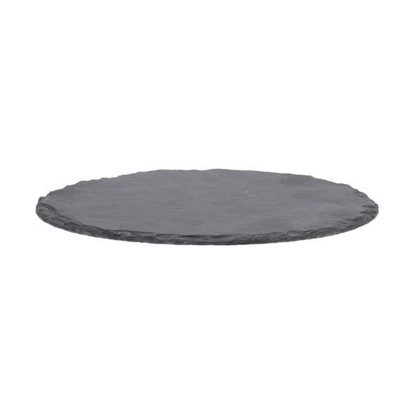 Zestaw 4 podstawek z kamienia łupkowego Flow, 9 cm