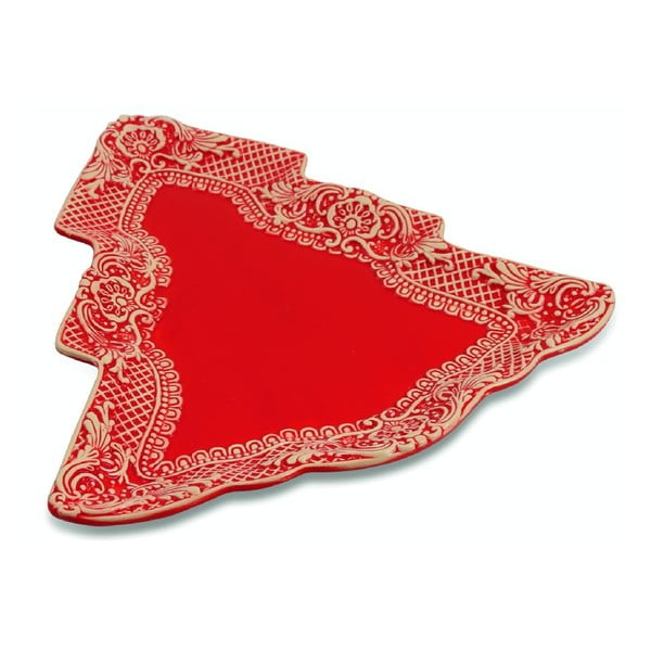 Półmisek ceramiczny Red Tree