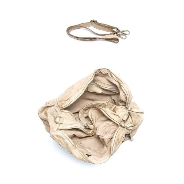 Skórzana torebka Mangotti 0004, kamień
