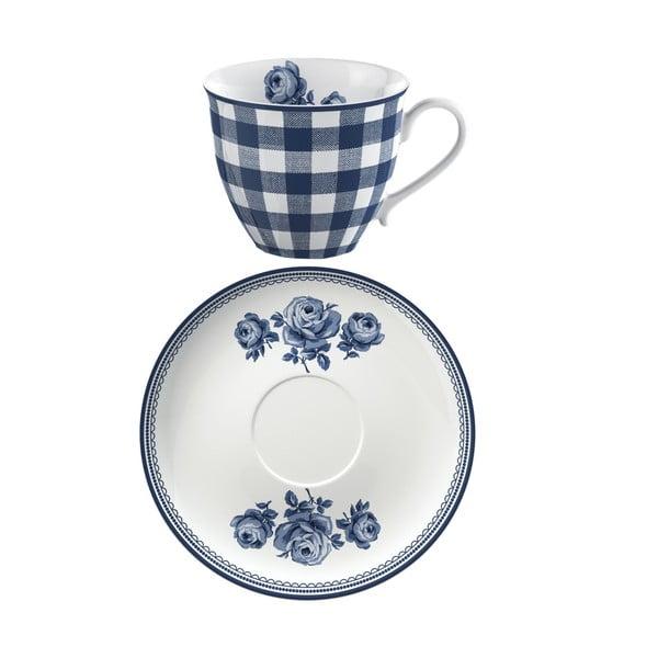 Kubek porcelanowy ze spodkiem Creative Tops Vintage Indigo, 200 ml