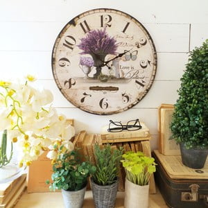 Zegar ścienny Milano Lavender